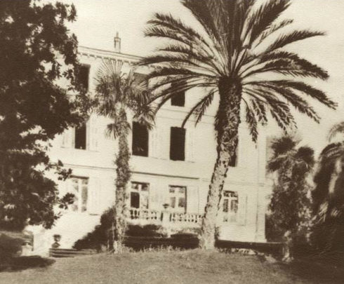 Villa St. Benoît in Cannes, where Venerable Anne died. This was there winter home. Anne's bedroom was on the first floor (the two windows in the center).
