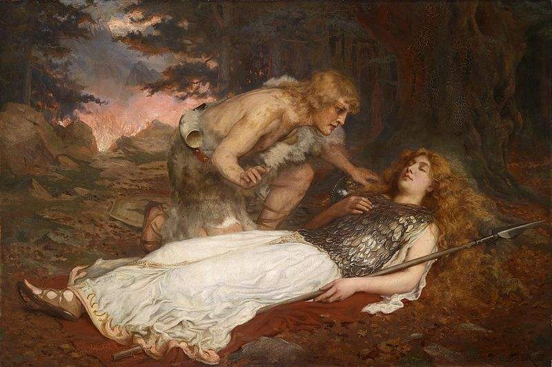 Siegfried and Brunnhilde from part of Richard Wagner's Opera, Der Ring des Nibelungen.