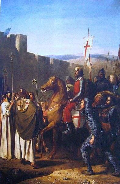 Baldwin of Boulogne entering Edessa in February 1098.