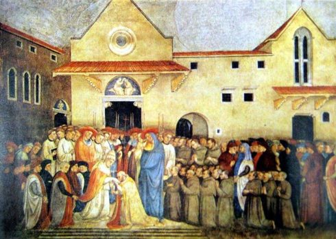 Consecration of of the new church of St. Egidio by Pope Martin V in september 1420.