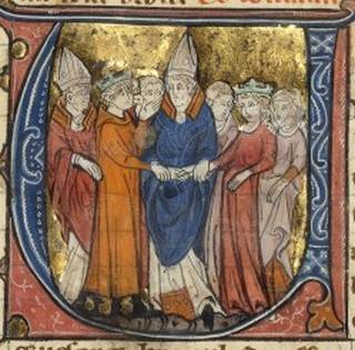 The marriage of Amalric I of Jerusalem and Maria Comnena at Tyre in 1167.