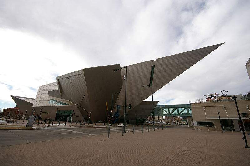 The Fredric C. Hamilton building at the Denver Art Museum in Denver, Colorado. Photo by Hustvedt.
