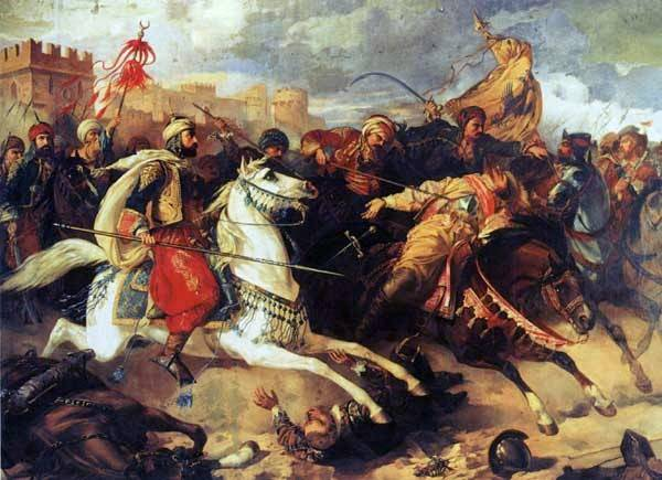 Battle of Varna, November 10, 1444. Painting by Stanislaw Chlebowski
