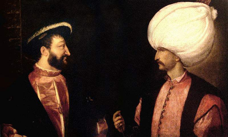 Francis I and Suleiman I the Magnificent initiated the Franco-Ottoman alliance in 1536.