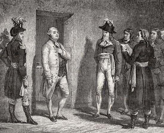 Joseph Garat Proclaims the Arrest of King Louis XVI, By H. de la Charlerie.
