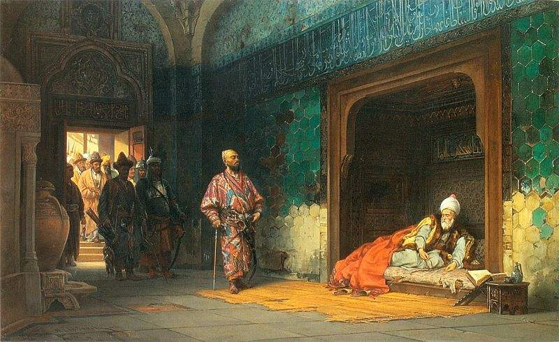 Sultan Bayezid prisoner of Timur