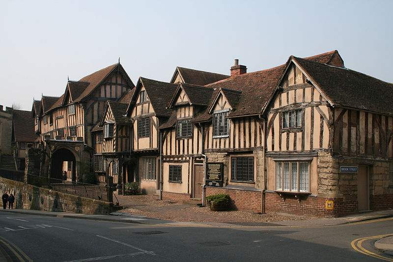 Lord Leycester Hospital, High Street, Warwick, England.