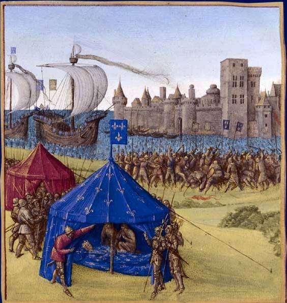 Death of King St. Louis IX during the siege of Tunis.