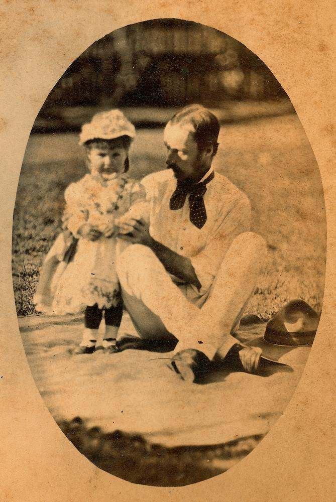 Edmund Rawson and his youngest daughter Dorothy.