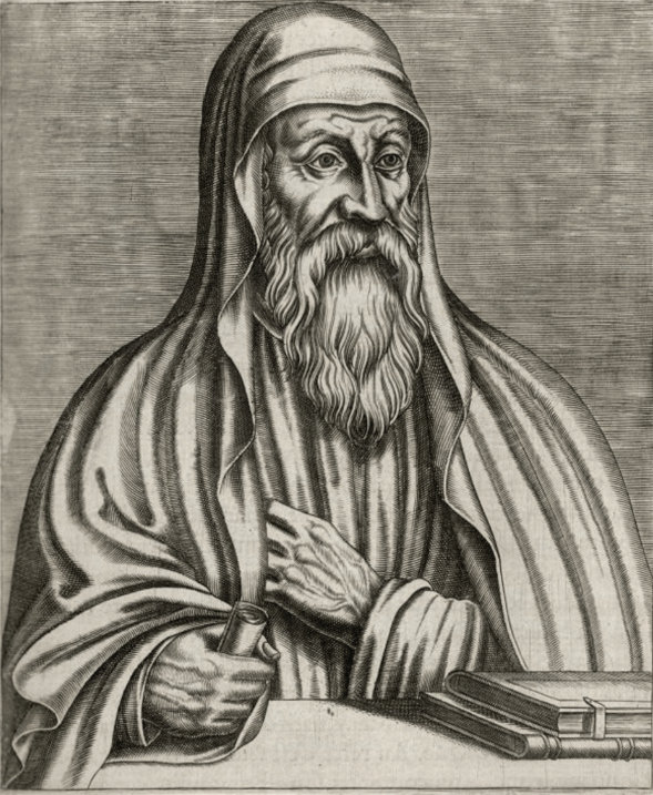 Origen Adamantius, the son of St. Leonides of Alexandria.