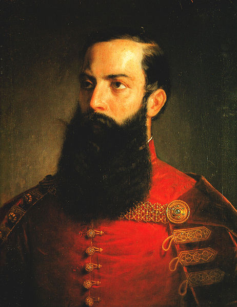 Painting of a Hungarian Nobleman by Mihály Kovács.