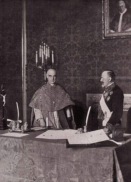 Cardinal Merry del Val and Milenko Vesnić signing the Concordat between the Holy See and Serbia on June 24, 1914 .