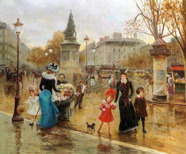 Streets of Paris by Joaquin Pallares y Allustante