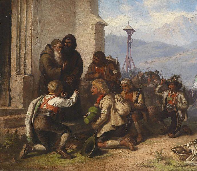 Tyrolean pilgrims by Alois Schönn