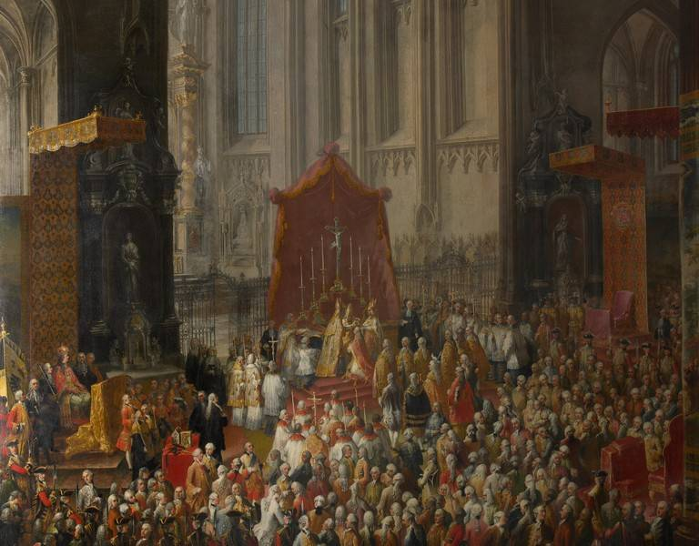 The Coronation of Joseph II as Holy Roman Emperor in Frankfurt Cathedral, April 3 1764.