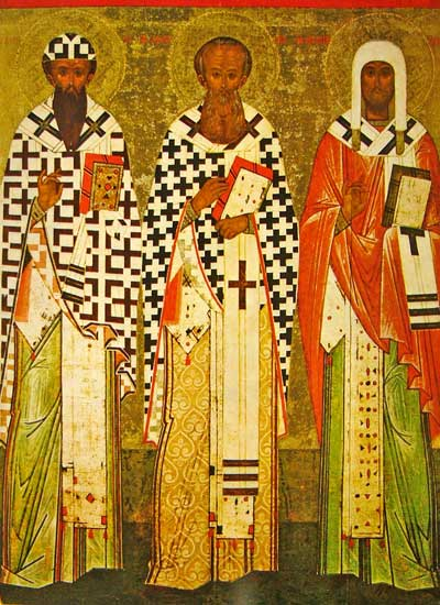 Sts. Cyril of Alexandria, Athanasius of Alexandria, Leontiy of Rostov