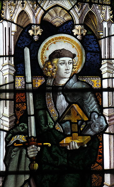 Stainedglass window of Saint Alban, at St Mary, Sledmere, East Riding of Yorkshire. Photo taken by davewebster14.