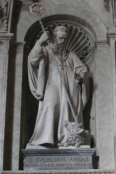 Saint William of Vercelli's statue at St. Peter's Basilica, Vatican. 1878