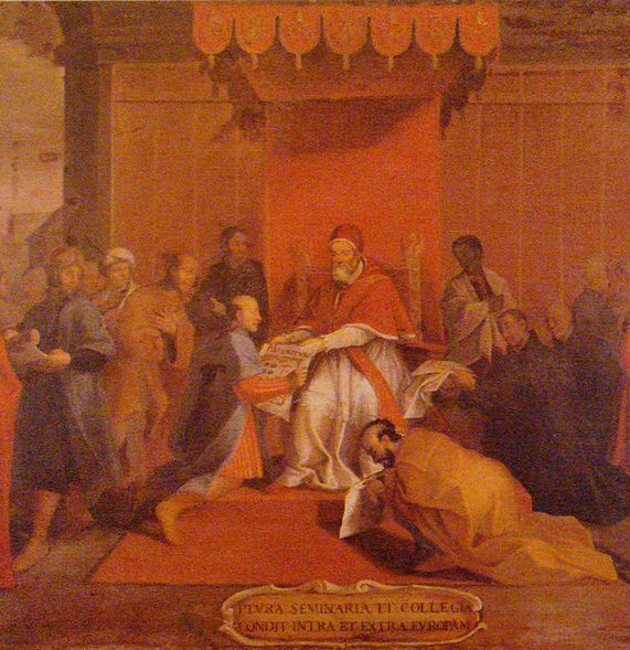 The Japanese embassy of Mancio Ito, with Pope Gregory XIII in 1585.