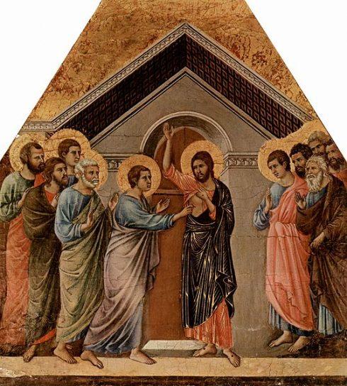 Painting by Duccio di Buoninsegna.