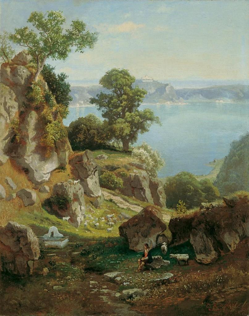 Italian sceneryby Carl Gustav Rodde