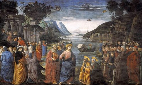 Our Lord Calling of the Apostles. Painting by Domenico Ghirlandaio.
