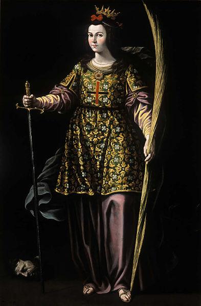 St. Catherine of Alexandria by Antonio Vela Cobo
