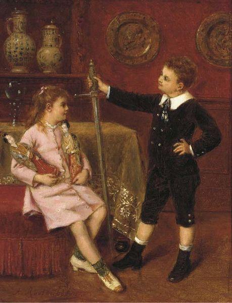 Children admiring their toys