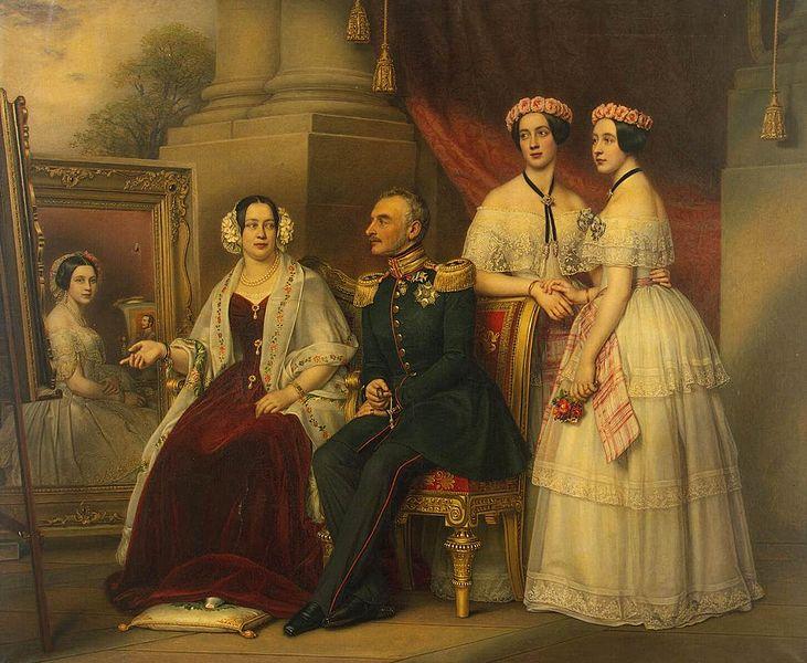 Portrait of the Family of Joseph, Duke of Saxe-Altenburg, painted by Joseph Karl Stieler.