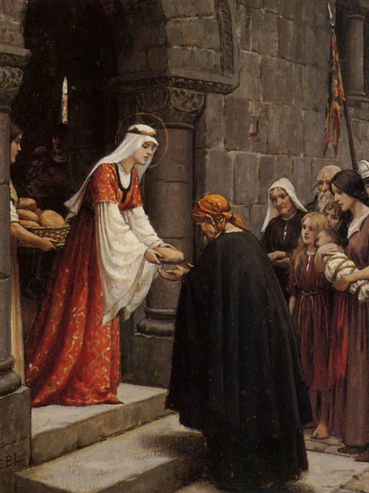 The charity of Saint Elizabeth of Hungary By Edmund Blair Leighton
