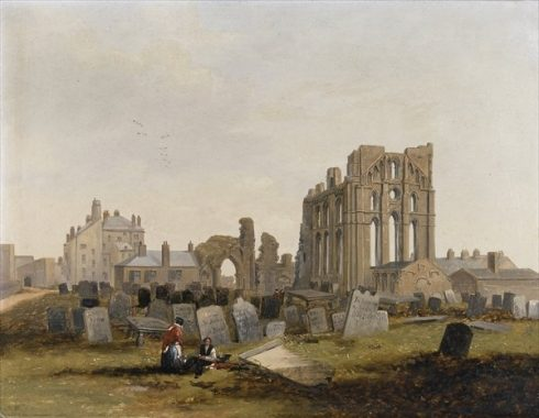 Tynemouth Priory from the East, 1845 by John Wilson Carmichael.