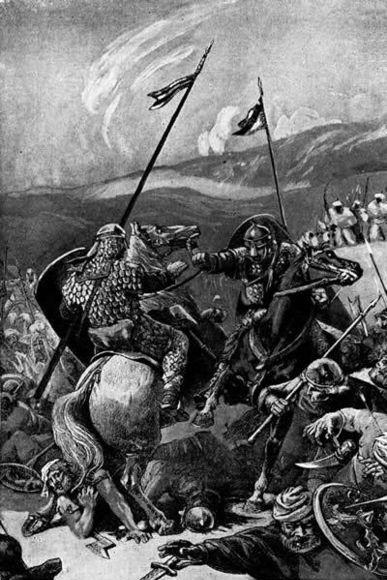 Bohemund of Taranto in the battle