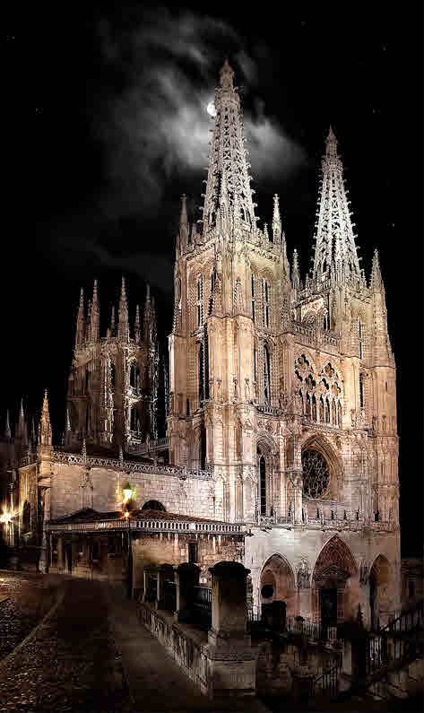 Gothic Cathedral of Burgos, in Old Castile