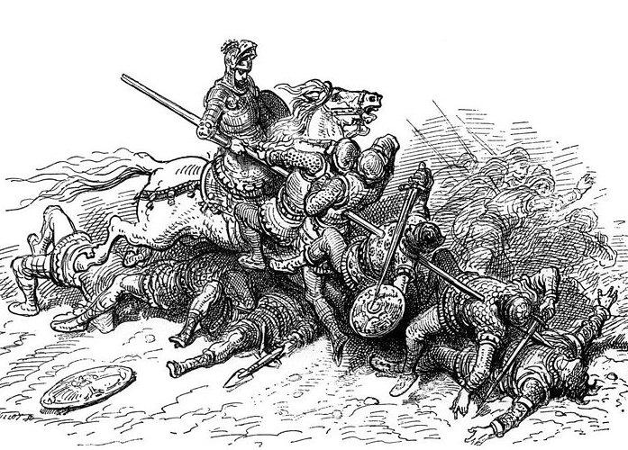 knight in battle