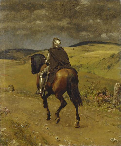 Knight on horseback by Hans Thoma