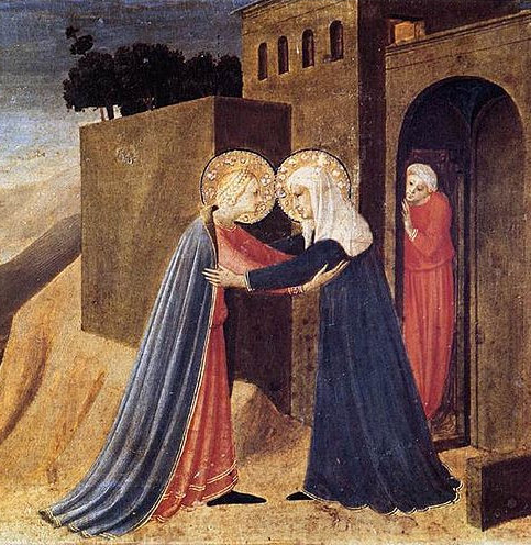 Visitation of Our Lady and St. Elizabeth by Bl. Fra Angelico