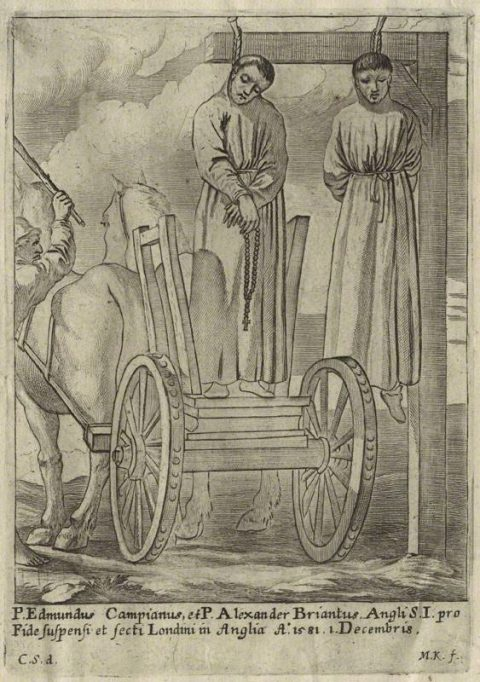 St. The execution of Edmund Campion and St. Alexander Briant, by M.K., possibly late 17th century