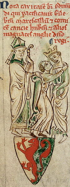 St. Edmund Rich, Archbishop of Canterbury, reconciling Gilbert Marshal, 4th Earl of Pembroke, and Henry III.