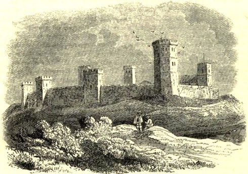 A Victorian representation of Oxford Castle, as imagined in the 15th century.