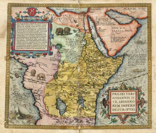 A map of the Empire of Prester John.