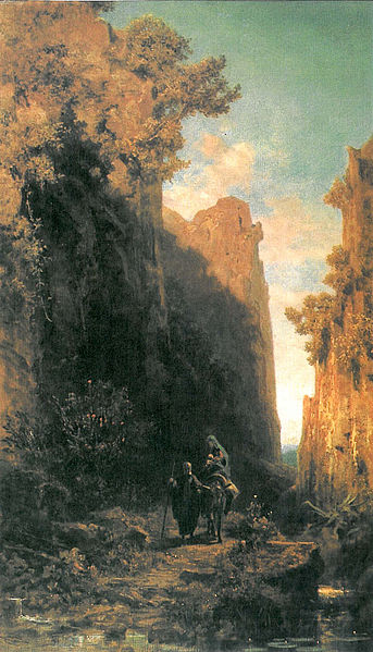 The flight into Egypt by Carl Spitzweg