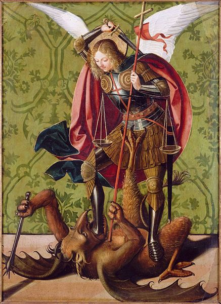 saint michael the archangel model of the perfect knight nobility