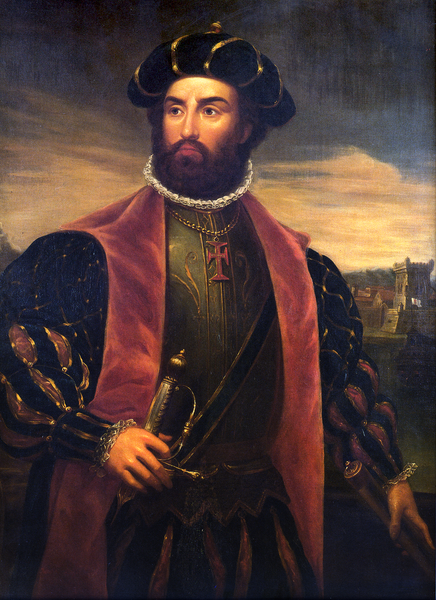 Painting of Vasco da Gama by António Manuel da Fonseca.