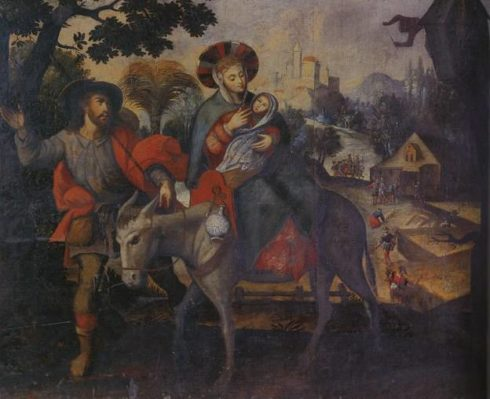 The Flight to Egypt by Diego Quispe Tito.