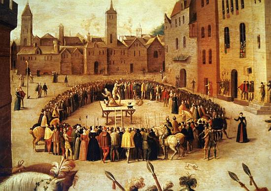 The Execution of Sir Thomas More in 1535 by Antoine Caron