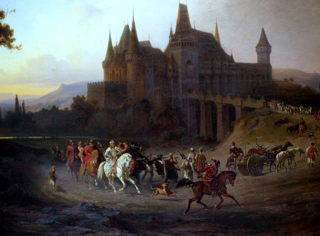 Antal Ligeti and Sándor Wágner (Nagykároly 1823 - Budapest 1890 / Pest 1838 - München 1919) - Return of King Matthias from Hunting, 1871
