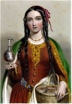 Queen Matilda depicted in the 1875 book 'The Queens of England or Royal Book of Beauty'