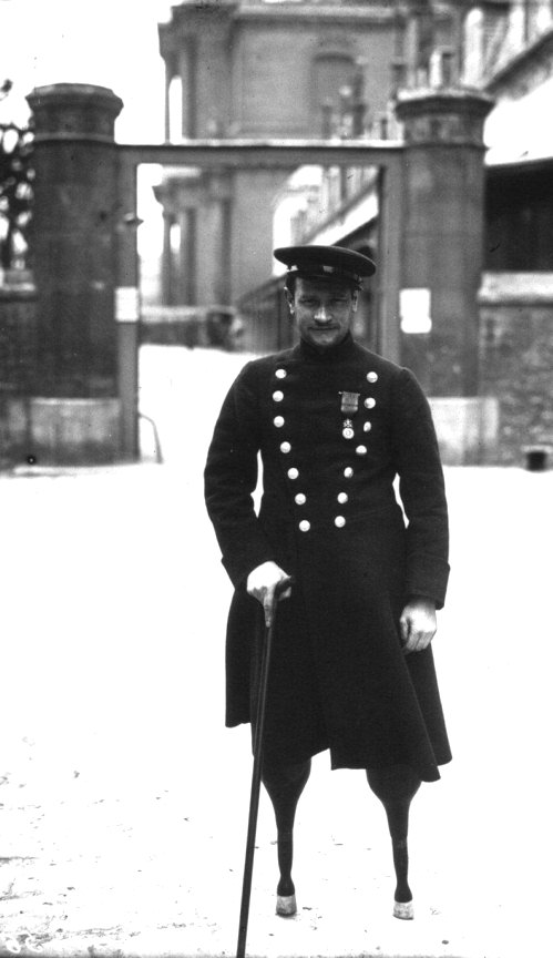 Jean-Marie Caujolle was one of the first French soldiers to be wounded during World War One. Both his legs were blown off by a shell at Champagne.