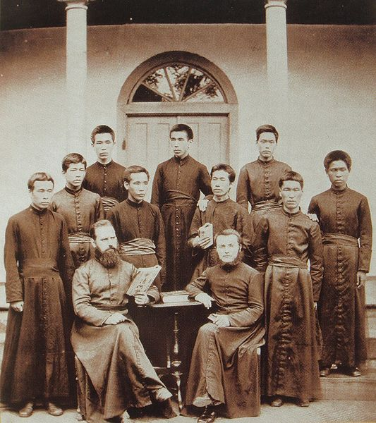 Paris Foreign Missions Society, Fathers and Seminarists in Southern Japan in 1881.
