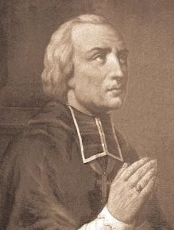 Bishop St. Louis Gabriel Taurin Dufresse, beheaded on September 14, 1815. His head was attached to a pole and his body left exposed for three days as a warning to others. He was canonized on October 1, 2000.